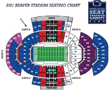penn state stadium seating beaver stadium seating chart penn state stadium seating
