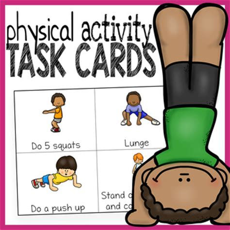 printable exercise flash cards physical activity cards exercise cards by the super