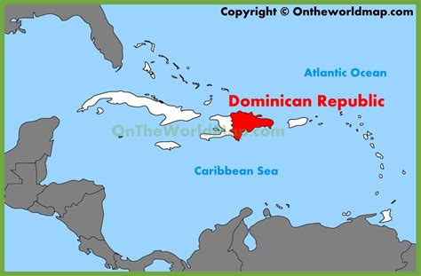 printable map dominican republic dominican republic location on the caribbean map
