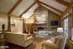 ceiling images living room vaulted ceiling in living room with fireplace stock photo