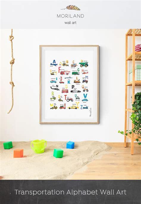 alphabet print transportation alphabet poster cars abc