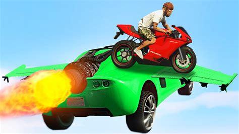 Motorrad Online Youtube by Gta 5 Stunts Mit Raketenauto Motorrad Gta 5 Online