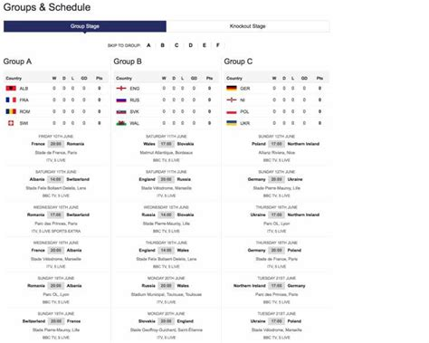 printable tv schedule printable euro 2016 pdf tv schedule for uk product