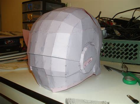 Iron Helmet Papercraft Pdf - iron helmet pepakura 4 by cyber on deviantart