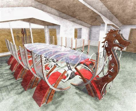 Viking Conference Table This Viking Conference Table Will Turn Your Meeting Into A Viking Raiding Bored Panda
