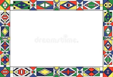 ndebele african border pattern art 2 stock vector african pattern border www pixshark com images