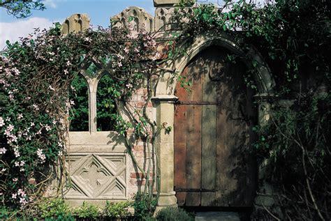 Secret Garden Door Wall Gothic Ruin Gothic Folly Stone Garden Architecture