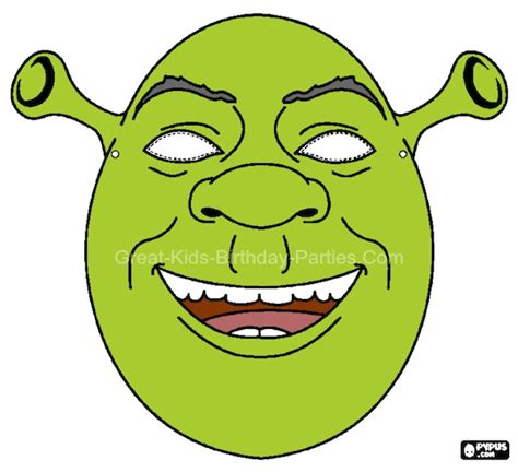 free printable halloween masks shrek mask homemade