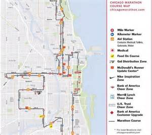 Chicago Marathon Course Map by Chicago Marathon 2012 Route Start Time Date And Tv Info