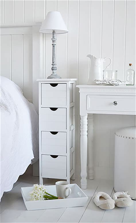 narrow bedside table with drawers dorset narrow 25cm white bedside table cabinet the