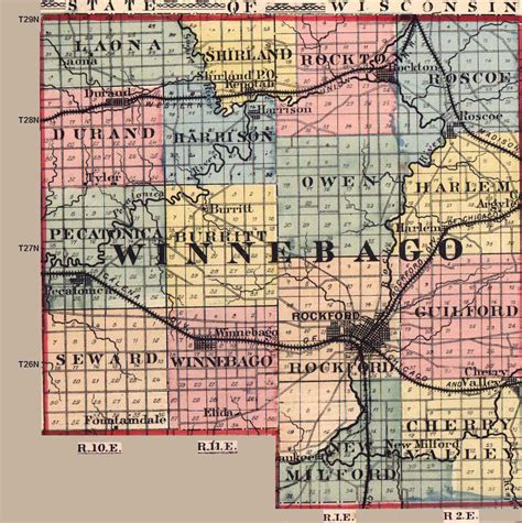 Winnebago County Il Records Winnebago County Illinois Maps And Gazetteers