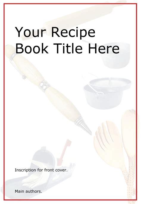 printable kids cookbook  template