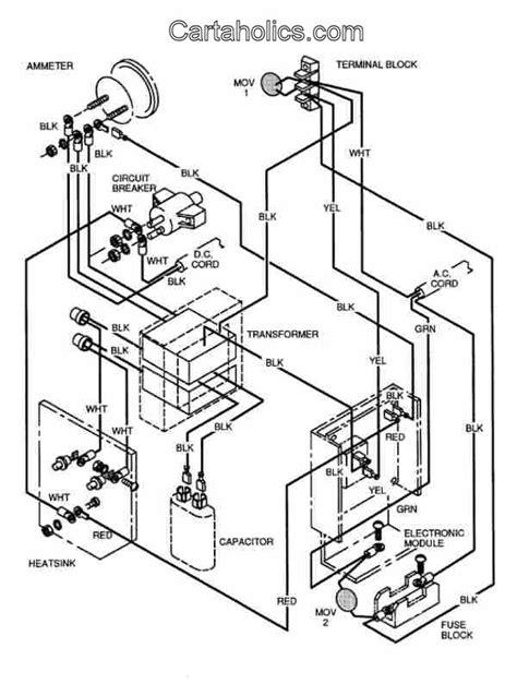 cartaholics golf cart forum    total charge  wiring diagram