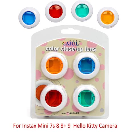 Mirror Lens Color For Instax 7s 8 colorful 4 colors filter up lens filter mirror for