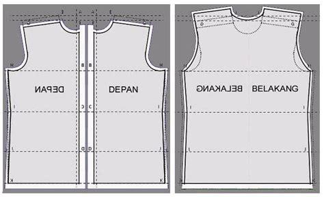 cara membuat pola baju yang benar lpk intan sruweng kebumen memotong kain pola dasar kemeja