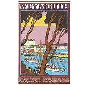 1930 S Southern Railways Weymouth Railway Poster A3 Reprint