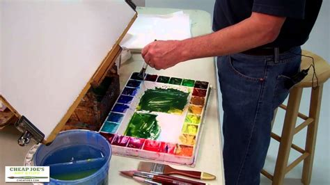 cheap joe s watercolor tutorial watercolor techniques with don andrews mixing greens youtube