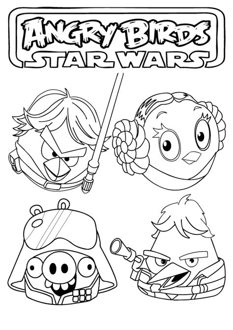 Free Coloring Pages Angry Birds Star Wars Coloring Pages Angry Birds Free Coloring Pages
