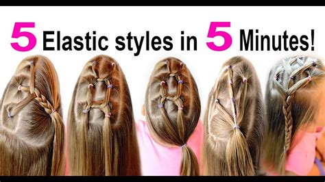 easy hairstyles for school in 5 minutes dailymotion easy 5 minute elastic hairstyles for school