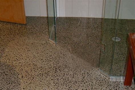 polished concrete bathroom floor warkworth concrete resurfacing floor bathroom outdoor