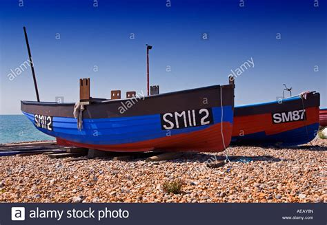 boat transport sussex boats on worthing beach west sussex england stock photo
