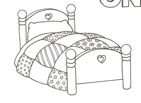 playing in bed coloring page coloring pages