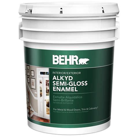 behr premium plus ultra 5 gal ultra white semi gloss enamel 585005 the home depot