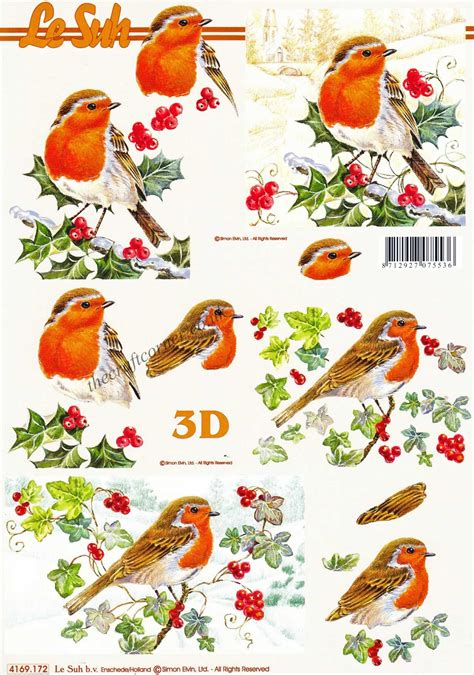 3d decoupage robins sitting on winter branches designs 3d decoupage