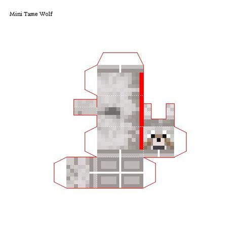 Minecraft Papercraft - papercraft mini wolf minecraft