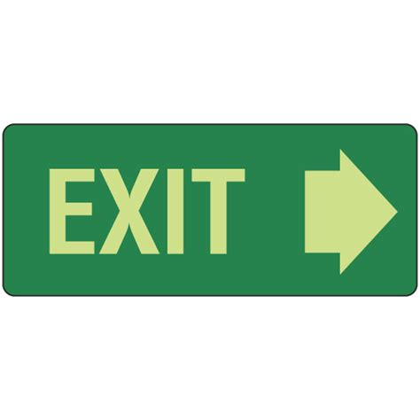 Exit Sign exit sign right arrow signs tuffa products