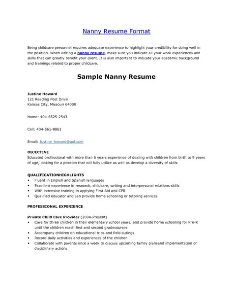 babysitter resume unforgettable babysitter resume examples to stand