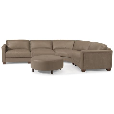 flexsteel latitudes sectional flexsteel latitudes wyman contemporary 5 seat rounded