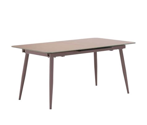 extension mocha glass table z132 modern dining