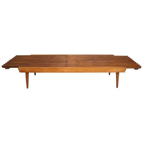 mid century slat bench extending mid century slat bench at 1stdibs