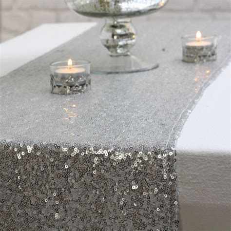 silver sequin table runner the wedding of my dreams