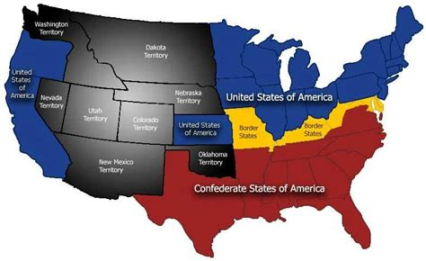 map of us states during civil war myths facts of the confederacy s business the