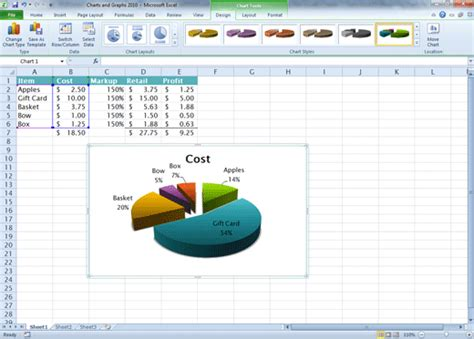 chart layout in excel 2010 comma training page 112