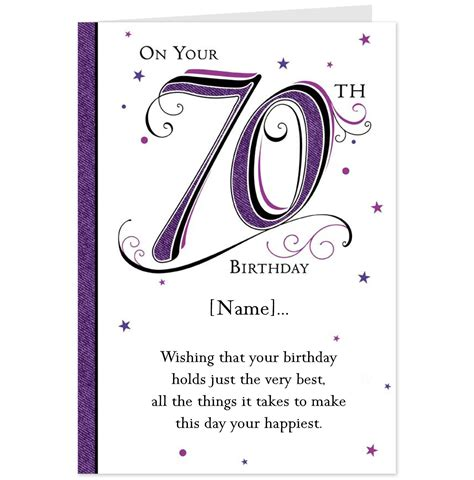 70th Birthday Card Template hallmark cards greetings cards and gifts
