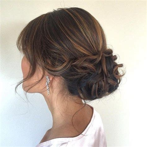 upstyles for mid to long hair 60 trendiest updos for medium length hair low updo mid