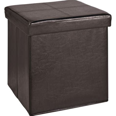leather effect ottoman buy home sm leather effect ottoman with stitching detail