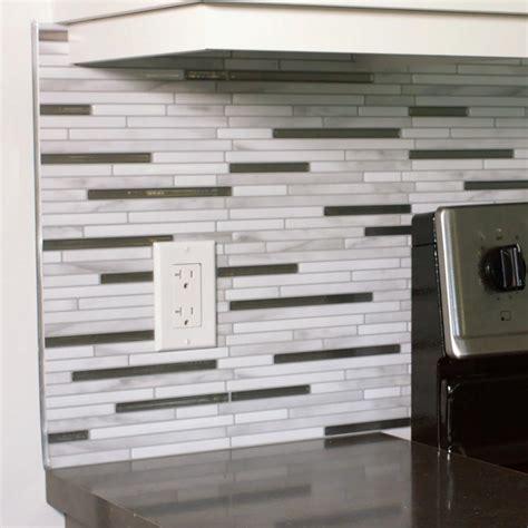 smart tiles metro grigio 11 56 in w x 8 38 in h peel and stick decorative mosaic wall tile smart tiles metro carrera 11 56 in w x 8 38 in h peel