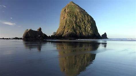 haystack rock at cannon beach oregon view from ecola