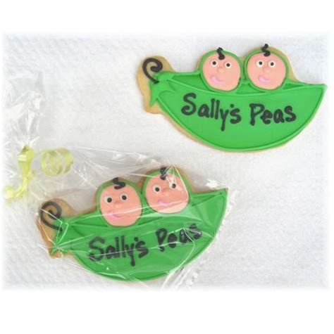 two peas in their pod two peas in a pod cookie favors