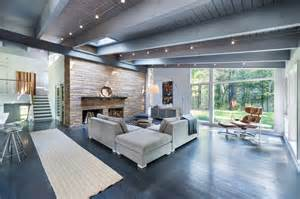 mid century modern remodel in massachusetts opens to the