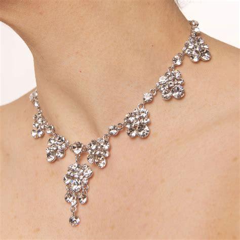 make swarovski jewelry swarovski clear necklace 8 cluster drops