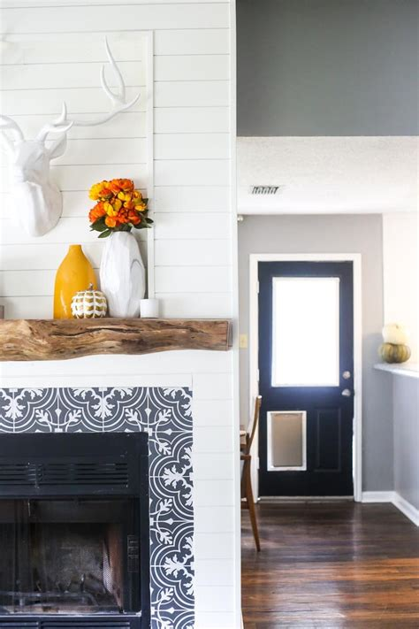 our rustic gorgeous diy wood mantel love renovations
