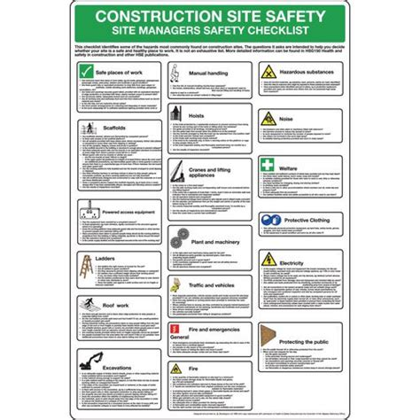 construction site safety poster   general safety posters   safety posters   signs amp labels