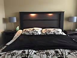 Headboard With Lights South Shore Gloria King Headboard With Lights 78 Inch Chocolate And Zebrano
