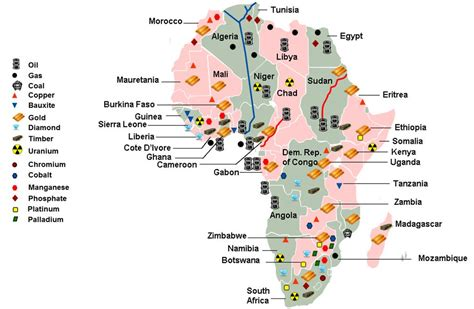 Africa Resources Map by Map Of Africa Natural Resources Deboomfotografie