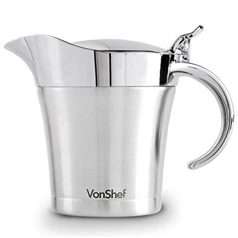 gravy boat insulated vonshef double wall insulated stainless steel gravy boat